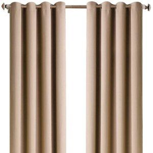 Merous Solid Grommet Blackout Curtains
